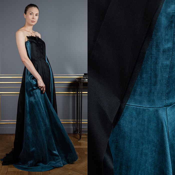 Two layer floor-length dress