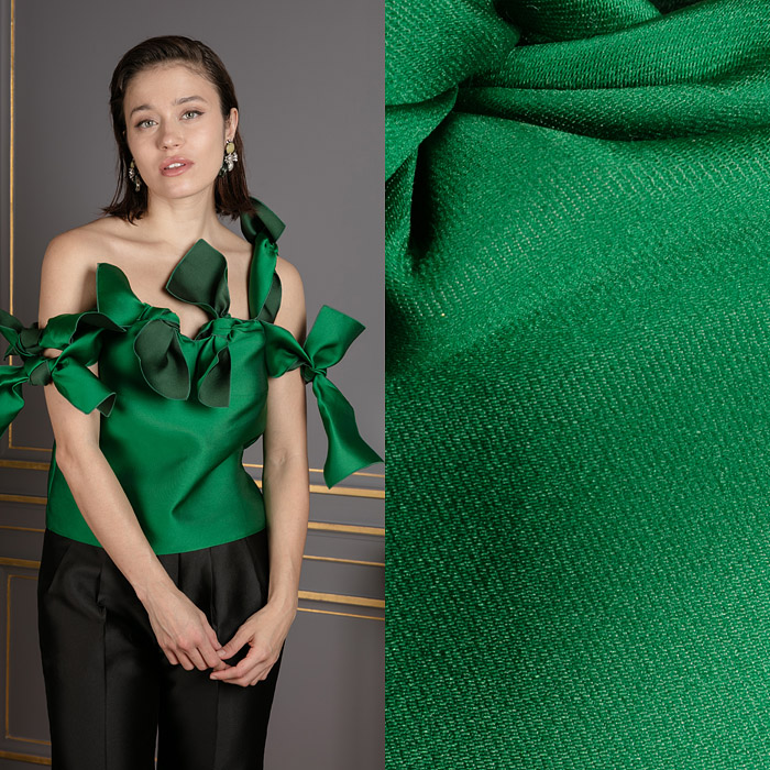 Green knotted top